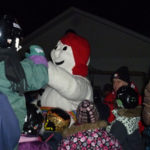 Bonhomme Carnaval au Patinage aux flambeaux